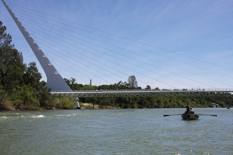 fly fishing the sacramento river redding sundial bridge