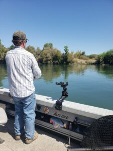 reeling in a huge sacramento river salmon